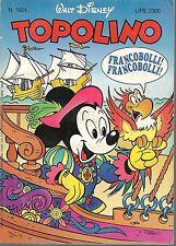 TOPOLINO N° 1924 - 11 OTTOBRE 1992