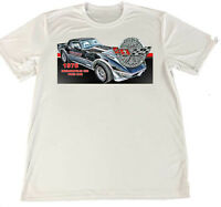 1978 Chevrolet Corvette Indy 500 Pace Car Wicking Material T-Shirt w Car Coaster