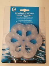 (Set of 6) Slip X Solutions Clear Removable Bath and Shower Treads