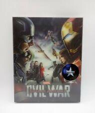 Captain America: Civil War (NOVAMEDIA) Excl Lenti Steelbook (Ltd Ed) ***VHTF***