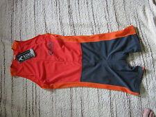 Rono Triathlon Suit talla M nuevo señores Men trisuit rojo naranja gris tirtor - 371 23015