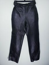 Vtg Womens S (Measures 25X26) GENUINE LEATHER Goth Biker Rockabilly Punk Pants