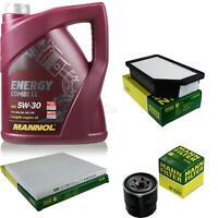 Motor-Öl 5L MANNOL 5W-30 Combi LL+MANN-FILTER KIA Rio III UB 1.25 CVVT