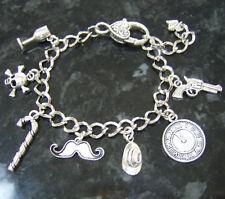 Handmade poirot agatha christie meurtre mystère inspired chargé bracelet breloque