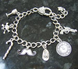 Handmade Poirot Agatha Christie Murder Mystery Inspired Loaded Charm Bracelet