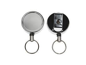 Retractable ID Card Holder Reel Heavy Duty Nylon Keyring Belt Clip FREE POST