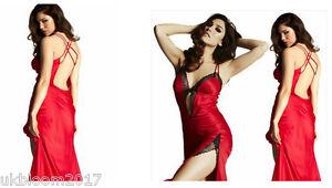 Sexy Women Lace Lingerie Nightwear Babydoll Long Sleepwear Sheer Robe Gown