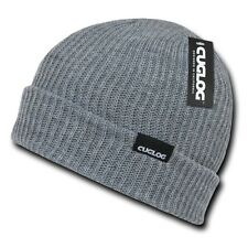 Heather Gray Knit Ribbed Winter Ski Sweater Sailor Beanie Beanies Cap Hat Hats