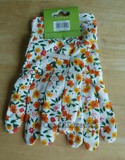 Westwoods Ladies One Size Light Use Gardening Work Gloves Orange & Yellow Floral