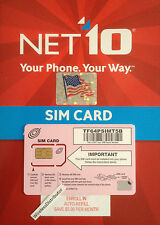 *** NET10 SIM UNLIMITED TALK-TEXT-DATA $35 MOT-MOBILE 4G LTE NETWORK ***