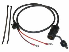"""12V Motorcycle Accessory Power Socket 100cm (39"""") Cable - Blade Fused - Easy Fit"""