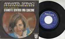 ANNARITA  SPINACI disco 45 giri STAMPA ITALIANA Sanremo 1968 STANOTTE SENTIRAI