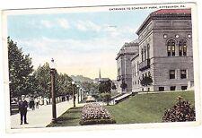 ENTRANCE TO SCHENLEY PARK-----PITTSBURGH PENNSYLVANIA--------------1919 POSTCARD