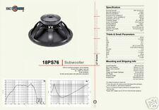 B&C 18 PS76 1200W SUBWOOFER SPEAKER