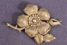 Brosche Wildrose 835 Silber / Wilde Rose Antik Brooch Silver