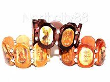 7 Archangel Wood Bracelet Michael Gabriel Raphael Uriel set of 3 brown lot of 3