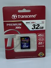 Transcend 300x 45MB/s 32GB SDHC Memory Card Brand New in Package New Perfect NIP