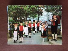 F1f  postcard unused norway children's wedding voss