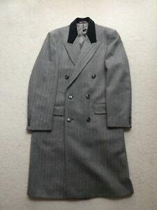 Dunn & Co Coat Grey Herringbone Pure New Wool M
