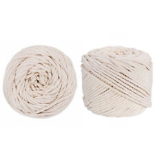 100m 4mm Macrame Rope Natural Beige Cotton Twisted Cord Artisan Hand Craft AU