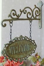 Wandschild Welcome Eisenschild Türschild Gusseisen Eingangsschild Deko antik