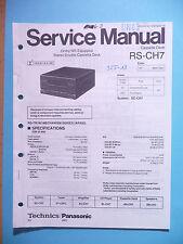 Service Manual-Anleitung für Technics RS-CH7,ORIGINAL