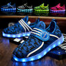 LED Shoes Light Up Children Kids Boys Girls Sports Trainers Luminous Sneakers