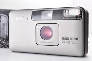 KONICA BiG Mini BM-201 Point & Shoot 35mm F3.5T* w/ Strap & Soft Case From JAPAN