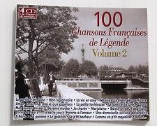 100 CHANSONS FRANÇAISES DE LEGENDE volume 2 . 4 CD