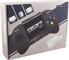 Retro Duo Portable RDP Nintendo SNES und NES Handheld Console v2.0 Core Ed. schwarz