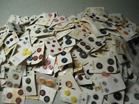 WOW 6 Bags Old Button Cards Full/Partial 50 Cards a Bag Many Countries