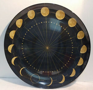 Christian Siriano Phases of the Moon Celestial Melamine Platter Tray Plate