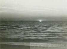 1924 Sunset Pacific Ocean Sun Splits the earth and sky