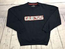 Vintage Guess Jeans Crewneck Sweater Mens Medium Usa Blue Red 90s Vtg