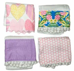 Baby Burp Cloth 13 X 18 White Set Of 4 Handmade Fabric Or Ribbon Hem