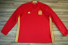 SPAIN 2015-2016 NATIONAL TEAM HOME FOOTBALL SHIRT JERSEY CAMISETA LONGSLEEVE XXL