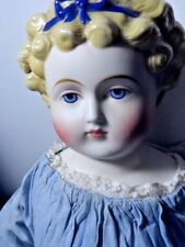 LARGE PARIAN 1890'S DOLLY MADISON DOLL  ORIGINAL BODY CLOTHES LEATHER ARMS