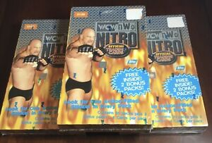 1999 Topps WCW Nitro Wrestling Cards Factory Sealed Boxes. 3 Box Lot