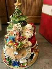Mib 2015 Fitz & Floyd Holiday Musical We Wish you a Merry Christmas Santa Tree