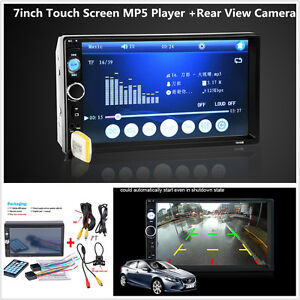 """2 Din 7"""" Touch Screen In Dash Car Stereo Bluetooth FM Radio Video MP5 MP3 Player"""