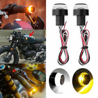 New Motorcycle Turn Signal LED Light Indicator Blinker Handle Bar End Handlebar
