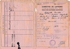1946 LIBRETTO DI LAVORO SAN GIOVANNI BIANCO BERGAMO  16-94
