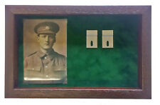Large Green Medal Display Case for 3-4  Medals With Photograph