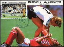 Football Maxicard 1986, Denmark V W. Germany, Handstamped #C26403