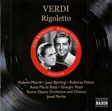 VERDI : RIGOLETTO - BJÖRLING, MERRILL, PETERS, PERLEA / 2 CD-SET