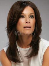 100% Human Hair Beautiful Fashion Women's Natural Dark Brown Straight