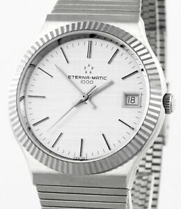 ETERNA MATIC 1000 1980's Vintage Mens New Old Stock Wrist Watch