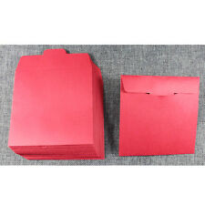 50 x RED CD sleeves paper card bags CD DVD protection