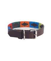 """Arco Iris"" Polo Leather Dog Collar - Width 1"""