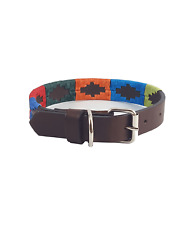 """Arco Iris"" Polo Leather Dog Collar - Width 1"""